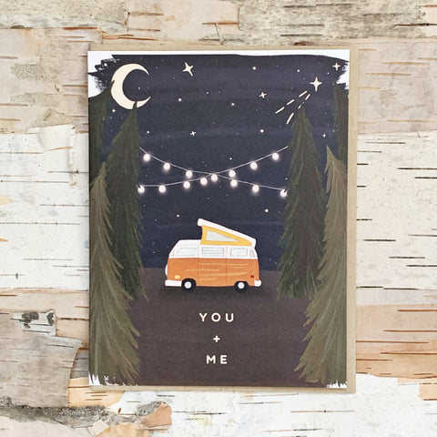 You and Me Camper Van Stars Card