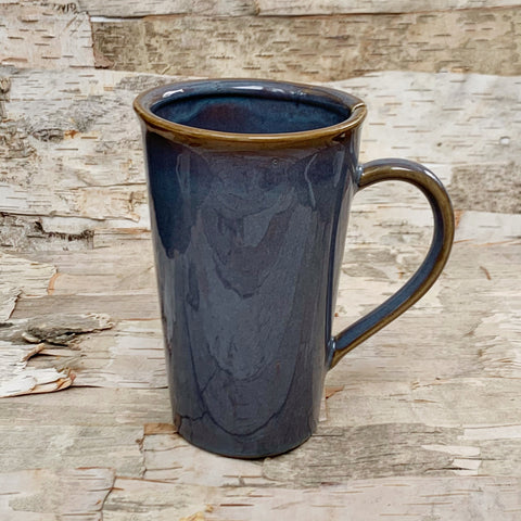 Stoneware Mug Blue With Tea Bag Slot