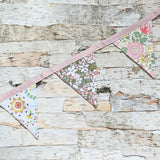 Cotton Printed Floral Flag Garland