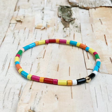 Tube Tile Rainbow Bracelet