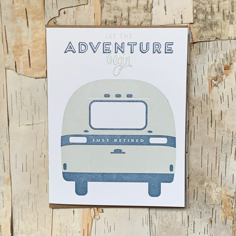 Airstream Retirement Card