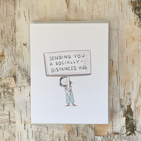 Socially Distant Hug Card