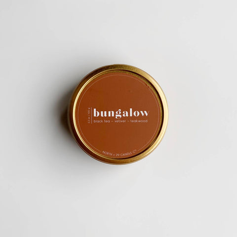 Bungalow Travel Tin Candle