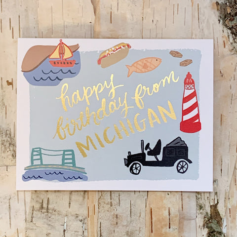 Happy Birthday From Michigan Card