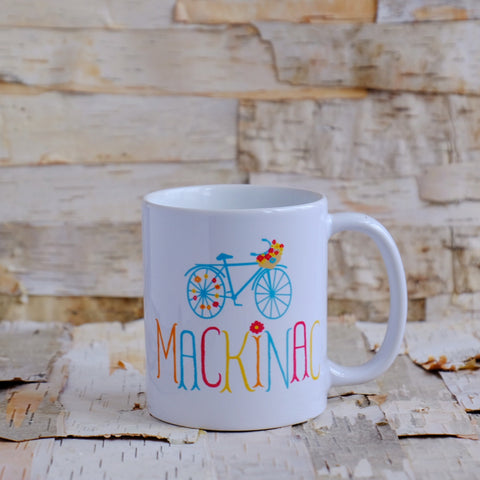 Mackinac Flower Bike Ceramic Mug