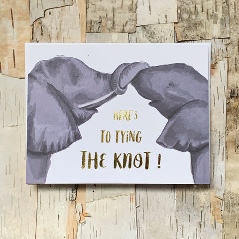 Here's To Tying The Knot Elephant Card
