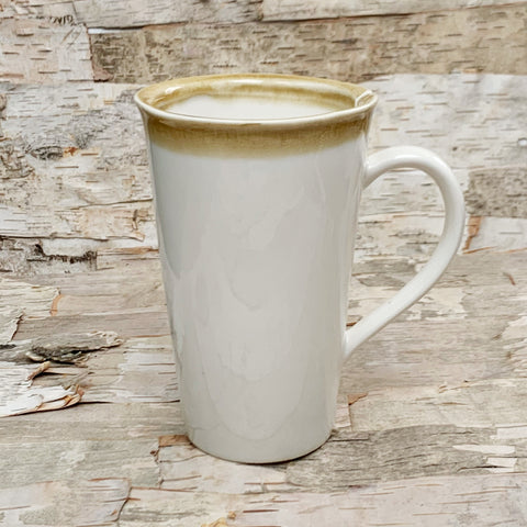 Stoneware Mug White With Tea Bag Slot