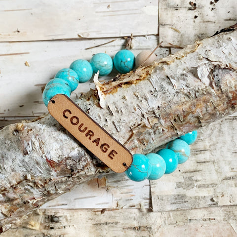 Courage Turquoise Stone Diffuser Bracelet