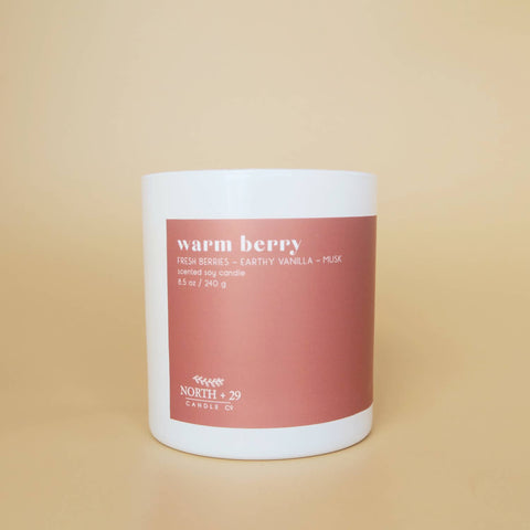 Warm Berry 8.5oz Soy Candle