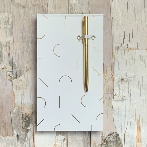 White Modern Memphis Chunky Notepad