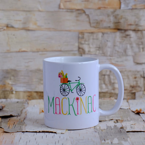 Mackinac Market Bike Ceramic Mug