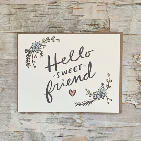 Hello Sweet Friend Card Abbie