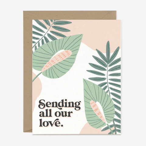 Sending All Our Love Card PPC