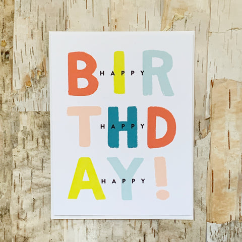 3x Happy Birthday Card