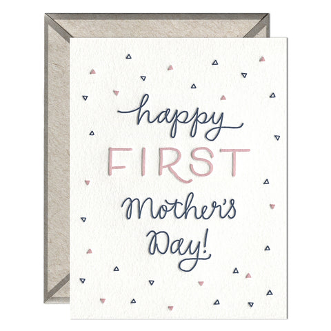 Happy First Mother's Day Little Triangles Card