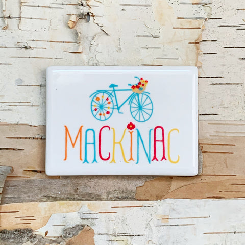 Mackinac Flower Bike Magnet