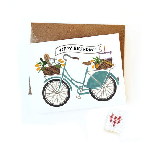 Birthday Banner Bicycle Card