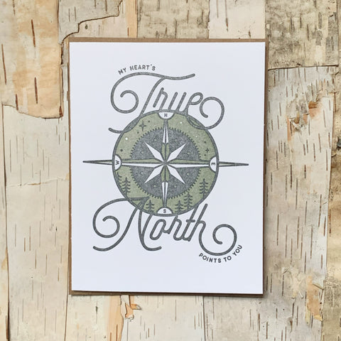 Hearts True North Card