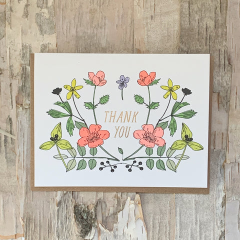 Thank You Wildflowers Card