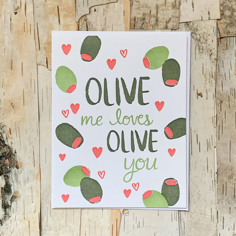 Olive Me Loves Card