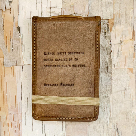 Quote Mini Leather Journal