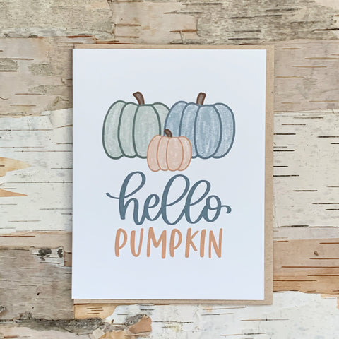 Hello, Pumpkin Card