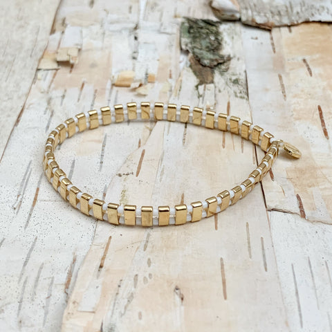 Speckled Gold/White Supernova Bracelet