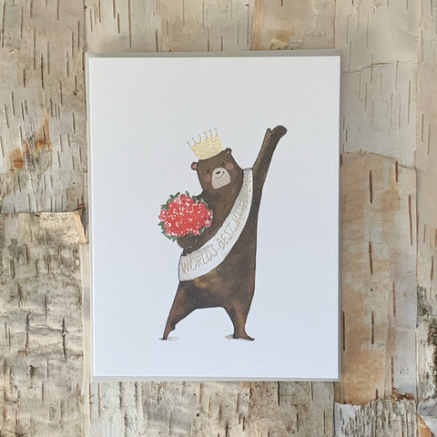 Worlds Best Mama Bear Card E. Frances