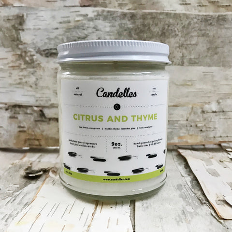 Citrus and Thyme Candle 9oz