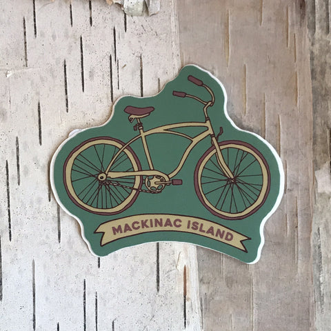 Mackinac Island Bicycle Sticker