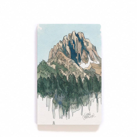 Drawing Mountains Lay Flat Notebook
