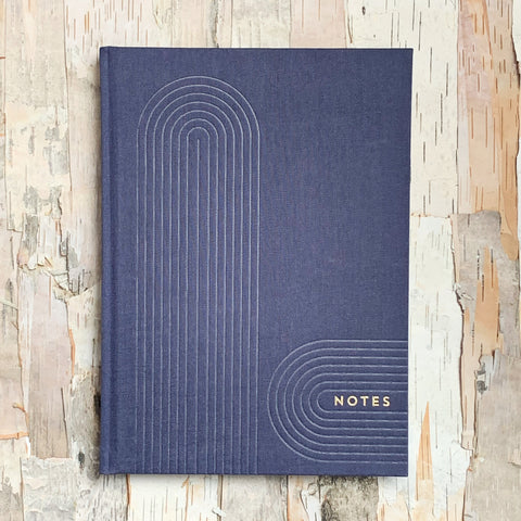 Navy Linear Geo Notebook