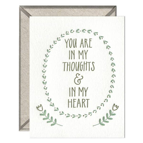 In My Thoughts and Heart Card