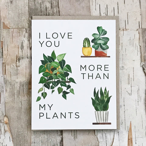 More Than My Plants Card Paper Anchor Co