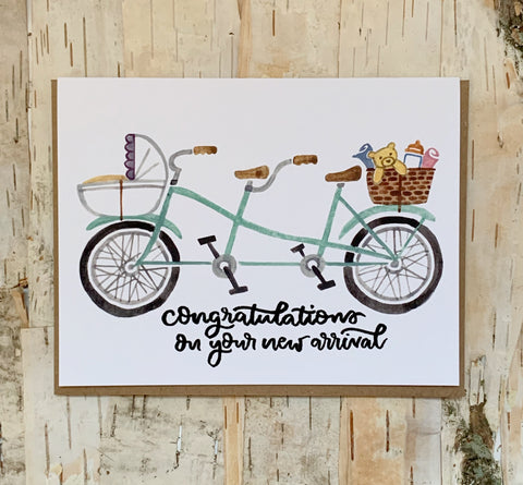 Bicycle New Arrival Card