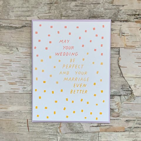 May Your Wedding Be Perfect Card The Good Twin