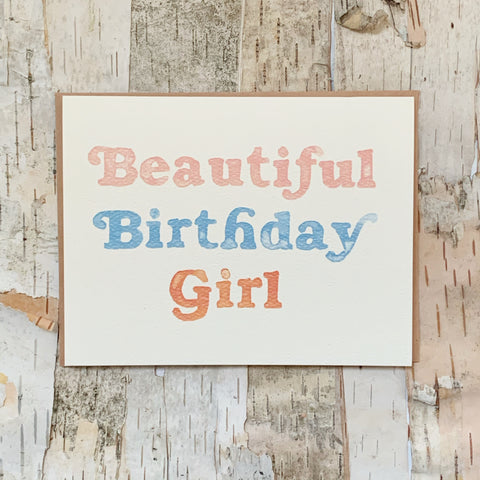 Beautiful Birthday Girl Daydream Card