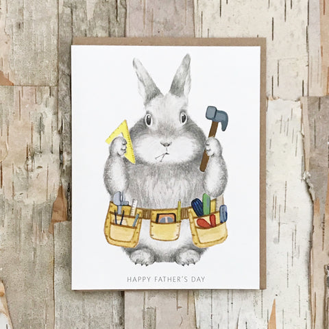 Father Tool Bunny Card