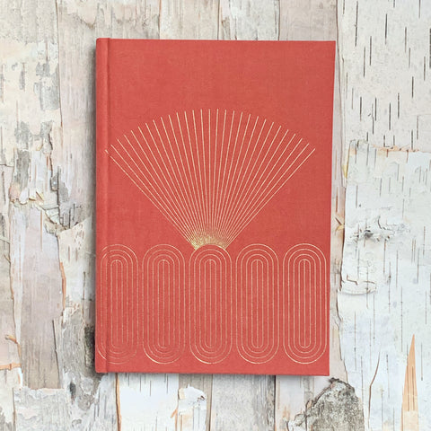 Bright Terracotta Radiant Rays Notebook