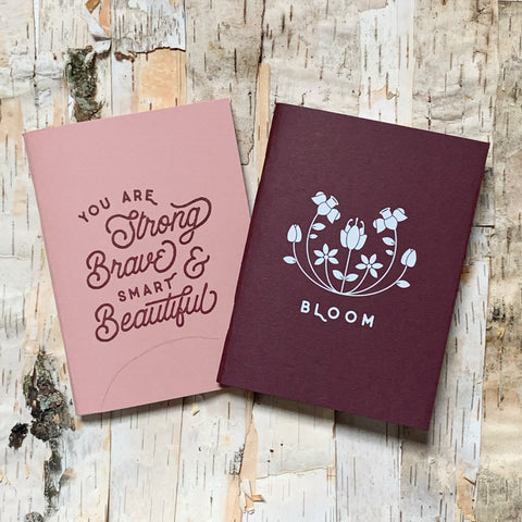 Bloom Strong, Brave, and Beautiful Pocket Notebooks