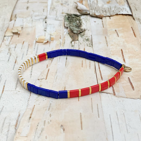 Red/Blue/Gold Supernova Bracelet
