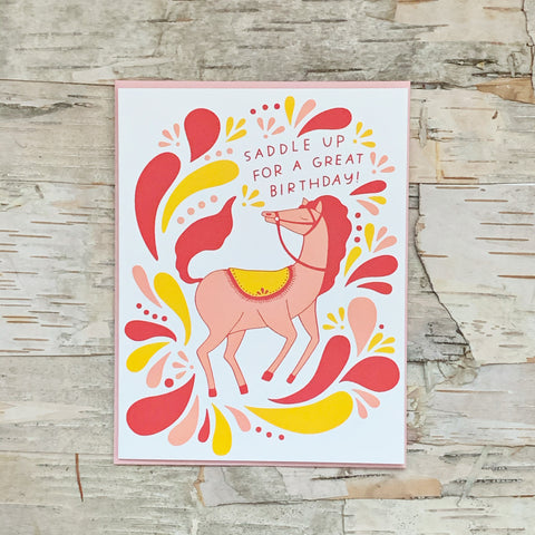 Saddle Up For A Great Birthday Card