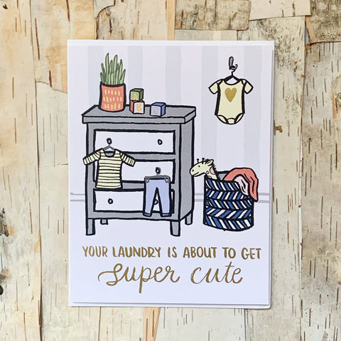 Super Cute Laundry Card