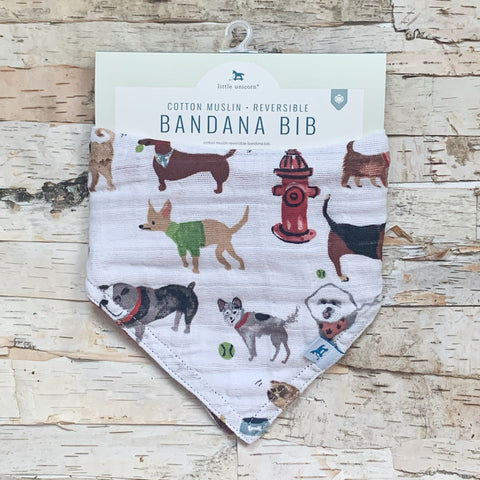 Dogs Reversible Bandana Bib