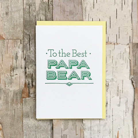 To The Best Papa Bear Card