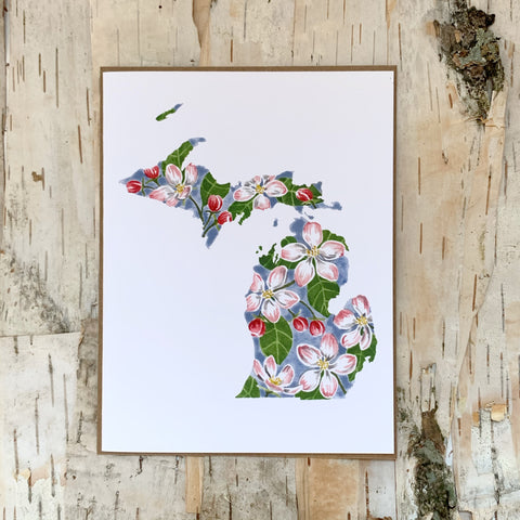 Michigan Apple Blossom Card