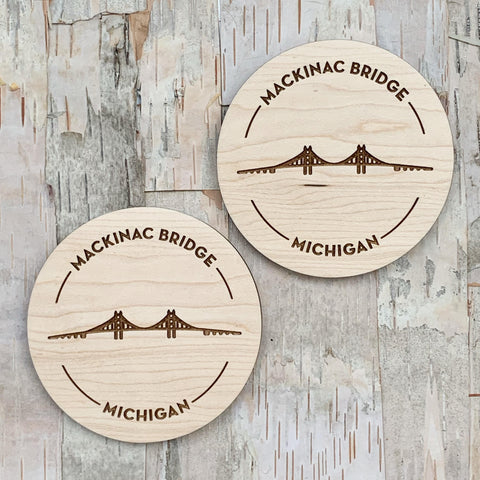Mackinac Bridge Coaster Set of 2