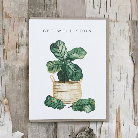 Get Well Soon Leaf Card Paper Anchor Co