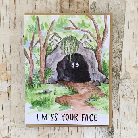 I Miss Your Face Cave Card