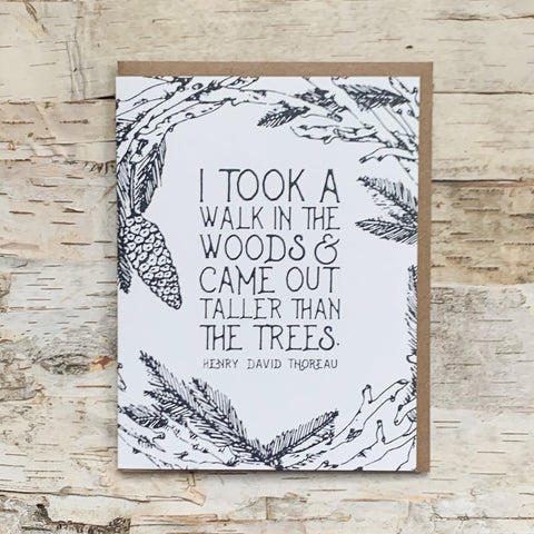 A Walk In The Woods Card